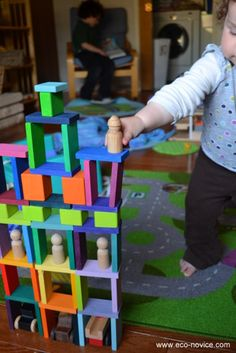 Worth Saving for the Grandkids: Colorful Stained Wooden Blocks by Grimms (made in Europe)