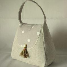Handbag Door Stop Globaltex Fabric Dotty Taupe £9.99