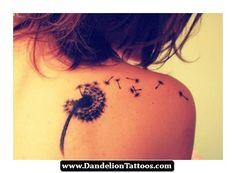 Fairy Blowing Dandelion Tattoo 07 - http://dandeliontattoos.com/fairy-blowing-dandelion-tattoo-07/