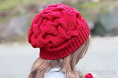 This design captures the spirit of all feminine, beautiful, graceful, and loving. It was inspired by my daughter, who wanted a very red hat for Valentine's Day. Cherry On Top, Red Hats, Top Pattern, Knitted Hats, Winter Hats, Daughter, Feminine, Crafty, Beautiful