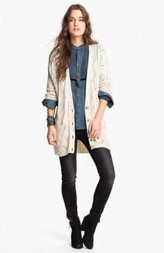 Free People 'New Romantics Bang Bang' Cardigan | Nordstrom Throw a knit on top of your denim shirt and your retro Americana!