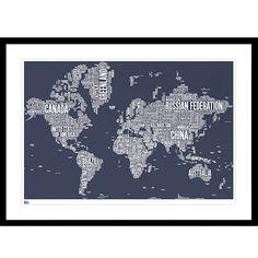 Buy bold noble british isles map framed silkscreen print 63 x buy bold noble world map framed print 84 x 115cm john lewis gumiabroncs Choice Image