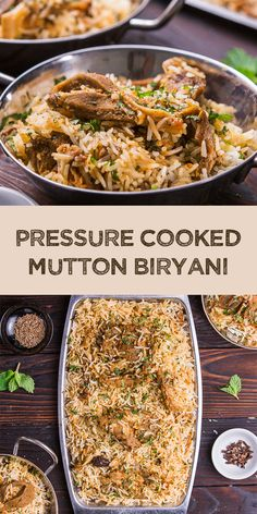 Low Carb Recipes To The Prism Weight Reduction Program Pressure Cooked Mutton Biryani Is A Delicious Indian Dish Made From Mutton Meat, Spices, And Biryani Rice In A Quick Way. Ideal For Family Dishes Lamb Recipes, Lunch Recipes, Meat Recipes, Indian Food Recipes, Dinner Recipes, Cooking Recipes, Delicious Recipes, Rice Recipes, Dinner Ideas
