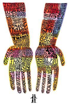 Grateful hands.