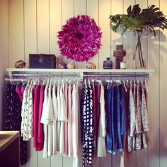 clothing rack http://mattieologie.com/2013/02/28/february-2013/