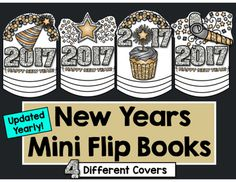 Happy New Year! I made these little flip books as a fun little welcome back for students to do this year after Winter Break. I really wanted something that was quick (so we can get back to curriculum) New Years Activities, Holiday Activities, Writing Activities, Fun Activities, Counseling Activities, Teaching Tools, Teaching Resources, School Fun, School Daze