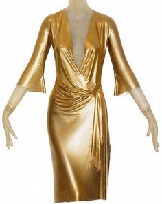 gold gown | Gold Draped Metal Mesh Dress 1 Golden Vintage Versace Dress Will Make ...