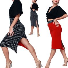 Red Tango Skirt (reversible) Tango dancewear [Sel-Et-Tan-24red] - $143.00 : Latin dance wear, ballroom dance shoes, latin dance skirts & Salsa dresses.