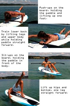 How to exercise on a SUP board...