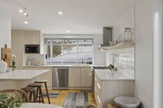 The Final Reveal! Navurban Silkwood installed in the kitchen for this exciting project in order to raise funds for charity organisation Bloom Asia. Joinery by Behrendorff Cabinets Raise Funds, Joinery, Modern Contemporary, Charity, Cabinets, Bloom, Kitchen, Table, House