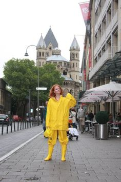 Yellow PVC Raincoat & Pants with Yellow Rubber Boots