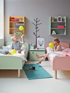 Children's bedrooms..