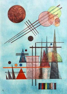 Wassily Kandinsky - Across and Up Artist:Wassily Kandinsky (16. Dezember 1866 - 13. Dezember 1944) Art style: Expressionism Title: Across and Up	(1927) TechniqueAquarell