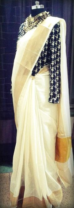 Sari by Ayush Kejriwal , To find out more about my brand or purchases visit my Facebook page - Ayush Kejriwal #sarees,#saris,#indian clothes,#womenwear, #anarkalis, #lengha, #ethnic wear, #fashion, #ayushkejriwal