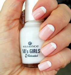 Reverse French Manicure