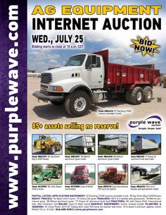 Ag Equipment Auction  July 25, 2012  http://purplewave.co/120725