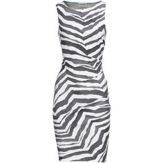 Emilio Pucci Animal Dream Mini Dress In Zebra Print ($1,665) ❤ liked on Polyvore