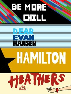 Random musical trash of Dear Evan Hansen, Be more chill, Hamilton, and Heathers! this is trash, I'm a musical trash. Broadway Theatre, Musical Theatre, Broadway Shows, Heathers Wallpaper, Dear Even Hansen, Heathers The Musical, Be More Chill, Theatre Nerds, My Escape