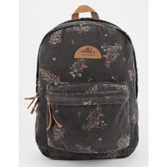 O'neill Beach Blazer Floral Backpack ($46) ❤ liked on Polyvore featuring bags, backpacks, rucksack bags, floral print bags, floral bags, o neill bags and flower print backpack