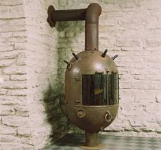 Steam punk fireplaces, from old Soviet mines