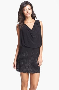 Xscape Embellished Blouson Dress available at #Nordstrom