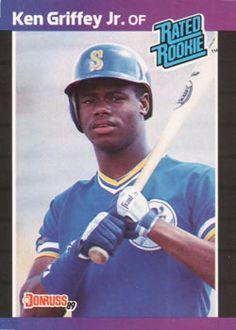 acc7baee2e 1989 Donruss #33 Ken Griffey Jr. Front Ken Griffey, Baseball Players,  Baseball