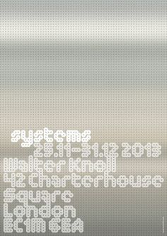 MuirMcNeil's #poster for systems at Walter Knoll, 25.11-31.12, curated by #dasprogramm in association with #Braun #designposter