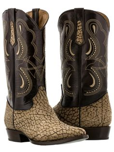 mens cognac brown real buffalo bull skin leather boots cowboy western exotic j