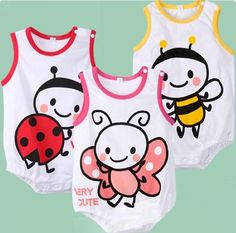 Free Shiping 3 colors 9pcs/lot Fashion Baby Boys Girls Sleeveless Rompers Infant Romper Baby Jumpsuits for Summer