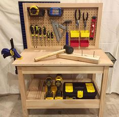 """Everyone knows a workbench should be rugged and massive, """"the bigger the better."""" But some years ago I set out to build a firm yet semi portable stand for teaching and demonstrating. The little workbench that eventually evolved is now… Continue Reading → Woodworking Patterns, Woodworking Bench, Woodworking Shop, Woodworking Crafts, Woodworking Basics, Woodworking Techniques, Woodworking Supplies, Woodworking Magazine, Woodworking Classes"""