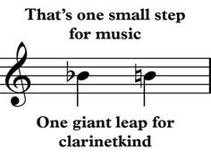 I actually laughed out loud at this!! But you have to play clarinet to get it.