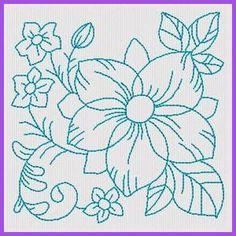 Floral Blocos RW - Livre instantâneas Designs máquina de bordar