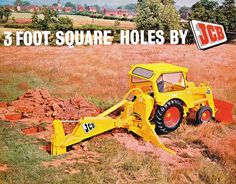 From garage lock-up to global force: JCB marks 70 years in business Toy Trucks, Monster Trucks, Earth Moving Equipment, Classic Tractor, Backhoe Loader, Old Advertisements, Vintage Tractors, Truck Art, John Deere Tractors