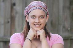 Headscarf Pink Bohemian Extra Wide by SpecificallyRandom on Etsy
