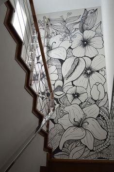 Mural wall by MamaJosefa Sie - Jardin Vertical Fachada