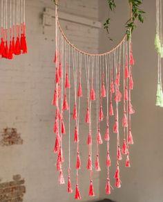 DIY embroidery hoop, tassel, dream catcher