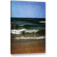 ArtWall Kevin Calkins Summer Waves Gallery-Wrapped Canvas, Size: 16 x 24, Brown