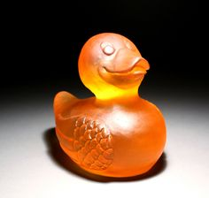 "Cortney Boyd, ""Rubber Ducky No. 4,""   cast glass,  http://www.morganglassgallery.com/imagepages/boyd_rubber_ducky_4.htm"