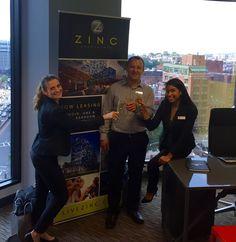 The ZINC Team toasting to a fabulous year! #Cheers #HappyAnniversary #OneYearAnniversary #LiveMonogram