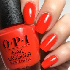 b4f6f8026f2 OPI Lisbon Nail Lacquer Collection A Red-vival City (bright red)  red