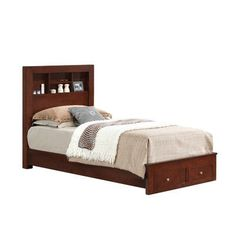 Glory Furniture Aries Storage Platform Bed Size: Full, Upholstery: White