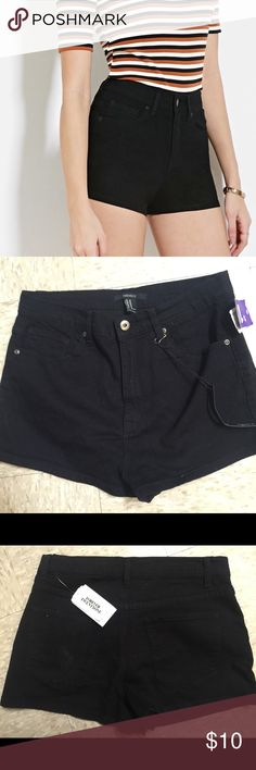 High waist shorts These are too cute! Unfortunately, I'm not this small! Brand new, tags still attached! Forever 21 Shorts Jean Shorts