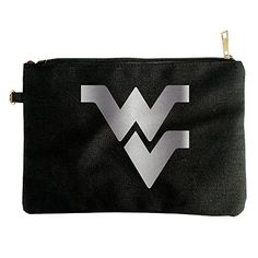 West Virginia Mountaineers Platinum Logo Canvas Pouch Bag -- You can find more details by visiting the affiliate link Amazon.com.