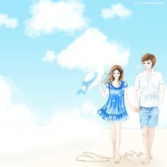스킨작가-(다소다)-스킨제목-사랑의 왈츠스킨작가-(다소다)-스킨제목-Fall in lo..스킨작가-(오후)-스킨제... Love Cartoon Couple, Chibi Couple, Cute Love Cartoons, Anime Love Couple, Couple Sketch, Couple Drawings, Anime Couples, Cute Couples, Fantasy Love