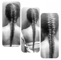 Fishtail French braid...so much easier to do on someone else than myself! Super cute!