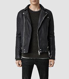 ALLSAINTS: Men's Leather Jackets - Iconic Men's pieces