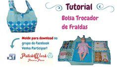 Bolsa Trocador de Fraldas - Completo com Molde