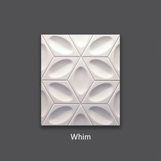 Contemporary aesthetics. Whim Tile by #TexturalDesigns #SculpturalTile #3DTile #Wallcovering