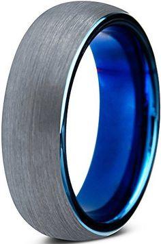 11 Women Ring Size GEMINI JEWELRY His /& Hers Plain Flat Comfort Fit BlueTitanium Wedding Bands Rings Set Width 6mm /& 4mm Men Ring Size 4