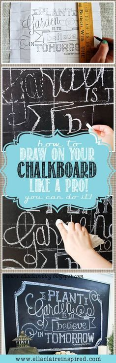 How to Draw on a Chalkboard